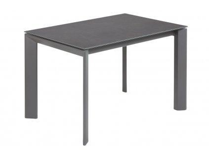 Antracitově černý porcelánový rozkládací jídelní stůl LaForma Atta I. 120/180 x 80 cm