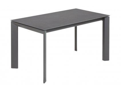 Antracitově černý porcelánový rozkládací jídelní stůl LaForma Atta I. 140/200x90 cm