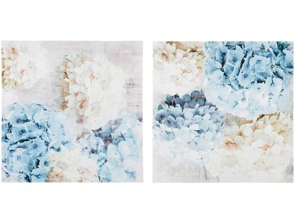 Modro bílý obraz Bizzotto Croun 60 x 60 cm