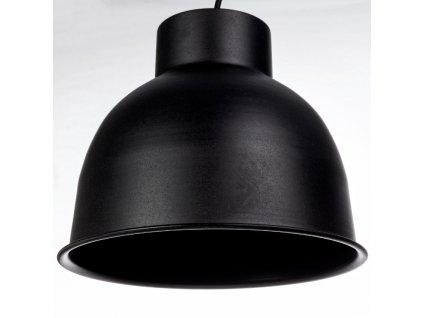 Černé kovové závěsné světlo Bizzotto Maribel Ø28 cm