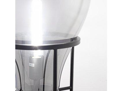 Černá kovová stolní lampa Bizzotto Shine Bulb