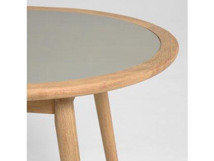 Šedý oválný cementový jídelní stůl LaForma Glynis 200x90 cm
