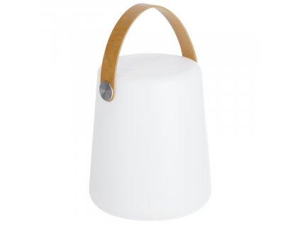 Bílá plastová stolní LED lampa LaForma Dialma