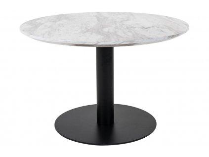 Černý mramorový kulatý konferenční stůl Ascona 70 cm