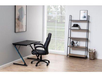 Černý dřevěný pracovní stůl Troper 100 x 60 cm s držákem na pití