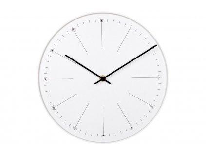 Bílé nástěnné hodiny Selba
