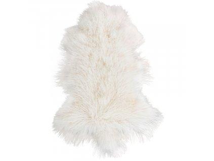 Bílá mongolská ovčí kůže Lenny