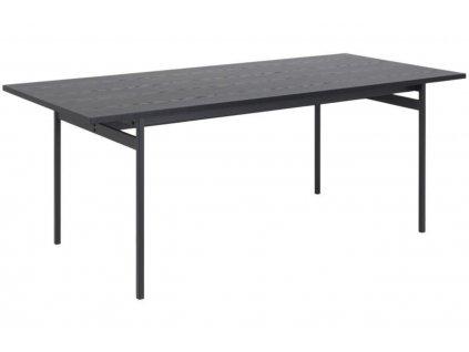Černý dřevěný jídelní stůl Amuse 200 x 90 cm