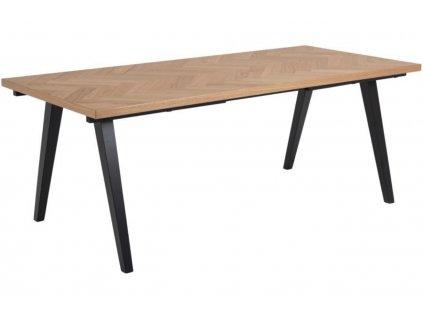 Přírodní dřevěný jídelní stůl Marcel 200 x 90 cm