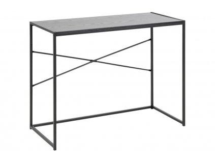 Černý toaletní stolek Darila 100 x 45 cm