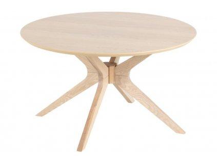 Přírodní dřevěný kulatý konferenční stolek Luella