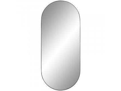 Černé kovové nástěnné zrcadlo Vincent 35 x 80 cm