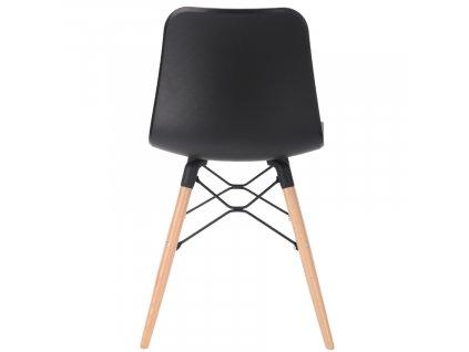 Černá plastová jídelní židle Marckeric Golf