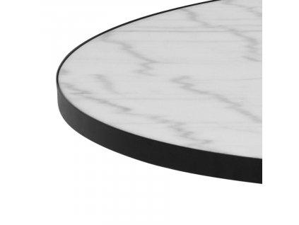 Bílý mramorový konferenční stolek Sandro 85,7 cm