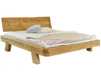 Masivní smrková postel Amia 160 x 200 cm