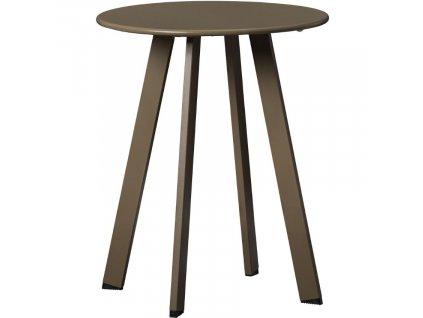 Hnědo zelený kovový konferenční stolek Axl 40 cm848x848