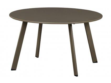 Hnědo zelený kovový konferenční stolek Axl 70 cm