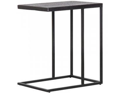 Černý kovový odkládací stolek Fabe 55 x 45 cm