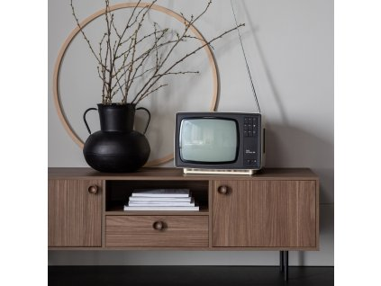Oříškově hnědý televizní stolek Prano 145 x 40 cm