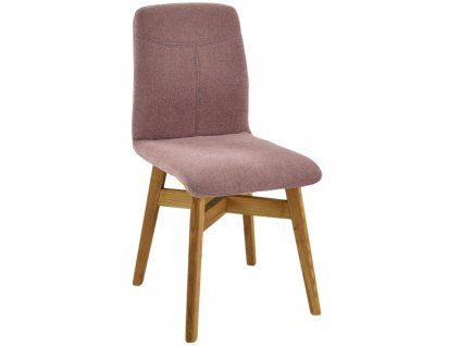 Lososově růžová látková jídelní židle Yori