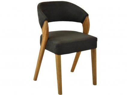 Černohnědá koženková jídelní židle Thorin