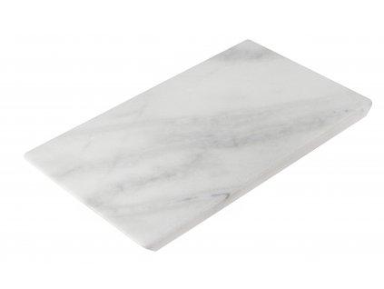 Bílý mramorový servírovací podnos RGE Décor 35 x 20 cm