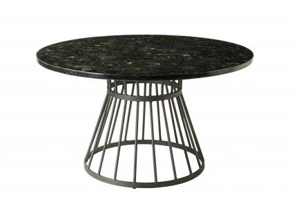 Černý kamenný konferenční stolek RGE Stone 85 cm