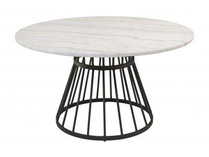 Bílý mramorový konferenční stolek RGE Stone 85 cm