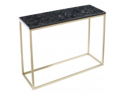 Černý kamenný toaletní stolek RGE Accent s matnou zlatou podnoží 100 cm