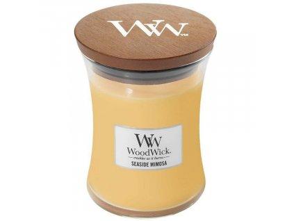 Střední vonná svíčka Woodwick, Seaside Mimosa