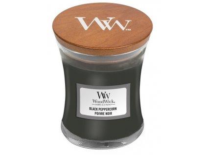 Malá vonná svíčka Woodwick, Black Peppercorn