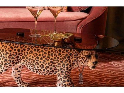 Oranžový skleněný konferenční stolek Bold Monkey Dope As Hell 90 x 40 cm