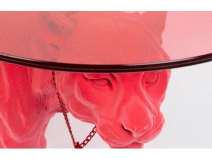 Růžový skleněný konferenční stolek Bold Monkey Dope As Hell 90 x 40 cm