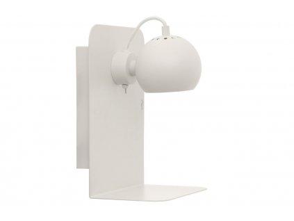 Bílá matná kovová nástěnná lampa Frandsen Ball USB