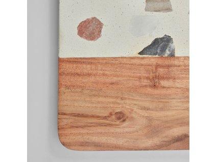 Servírovací deska LaForma Temira wood and multicoloured terrazzo