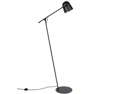 Černá kovová stojací lampa ZUIVER LAU 131 cm