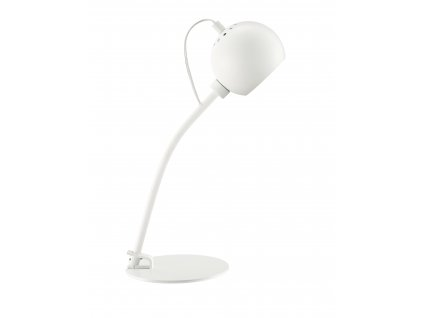 Bílá matná kovová stolní lampa Frandsen Ball