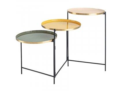 Barevný kovový konferenční stolek Bizzotto Amita