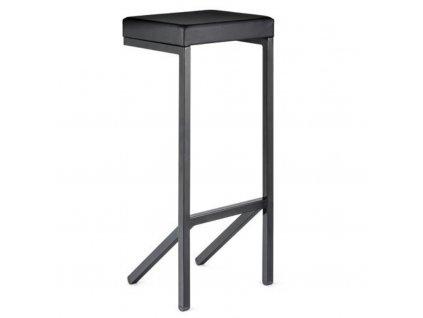 Černá koženková barová židle Mara Kilo 80 cm