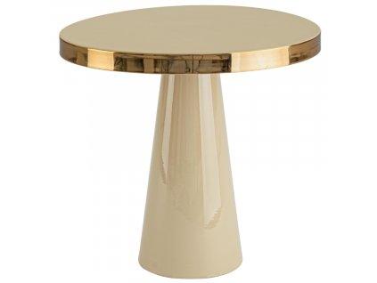 Béžový kovový odkládací stolek Bizzotto Nadika 45,5 cm