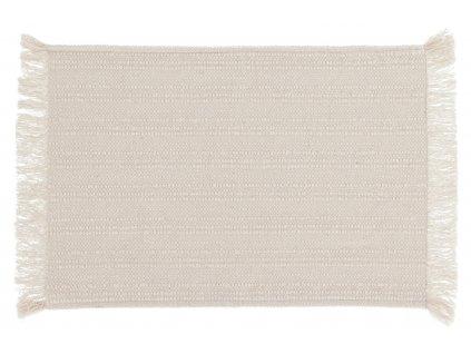 Sada dvou béžovo bílých bavlněných prostírání LaForma Aicha 35 x 50 cm