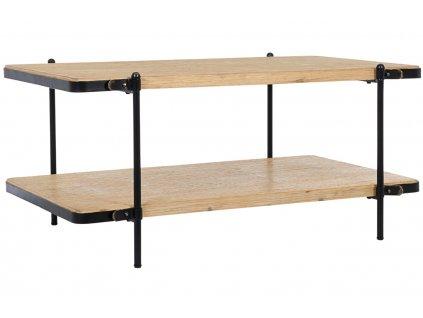 Černý kovový konferenční stolek Bizzotto Jerrod 110 x 65 cm