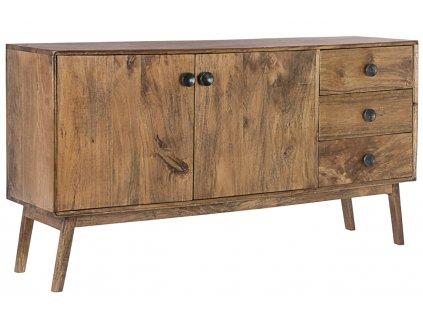 Hnědá dřevěná komoda Bizzotto Sylvest 150 x 40 cm