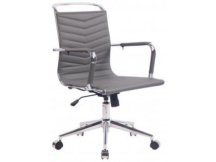Šedá prošívaná konferenční židle Lexus