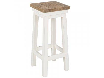 Bílá dřevěná barová židle Bizzotto Elvia 64 cm