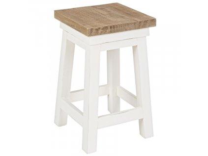 Bílá dřevěná stolička Bizzotto Elvia 45 cm