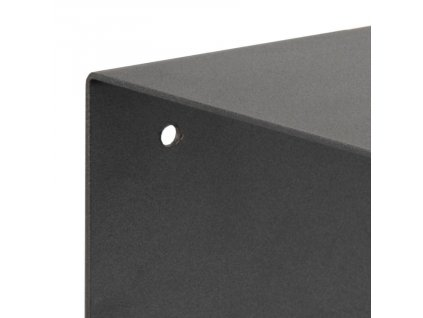 Černá kovová nástěnná police Zoha 35 cm