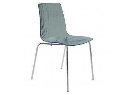 Antracitová plastová jídelní židle Last II.