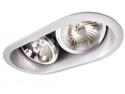 Stříbrné kovové vestavné bodové svítidlo Aro