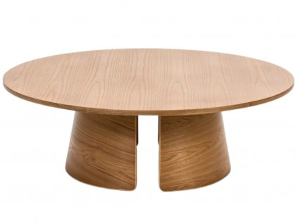 Dubový kulatý konferenční stolek Teulat Cep 110 cm